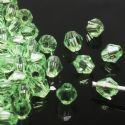 Beads, Imitation Crystal beads, Acrylic, green, Faceted Bicones, Diameter 4mm, 2g, 100 Beads, (SLZ0411)